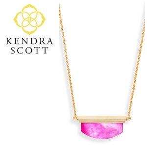 Kendra Scott Dean Necklace Pink Magenta Pearl